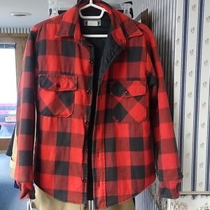 Ducks unlimited thinsulate red plaid jacket
